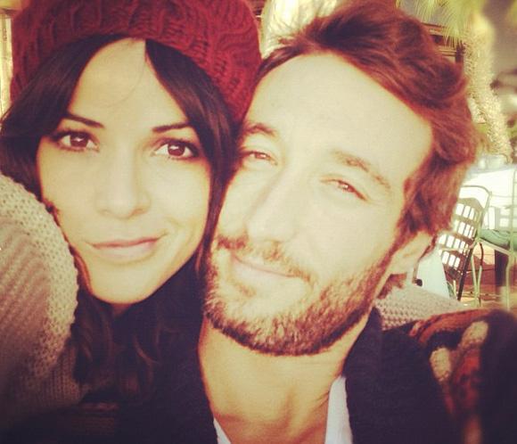 Raquel del Rosario y su novio, la viva imagen de la felicidad