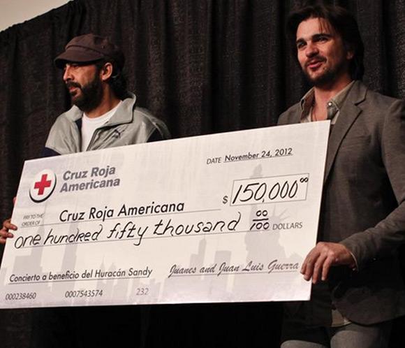 El concierto más solidario de Juanes y Juan Luis Guerrapor las víctimas de 'Sandy'