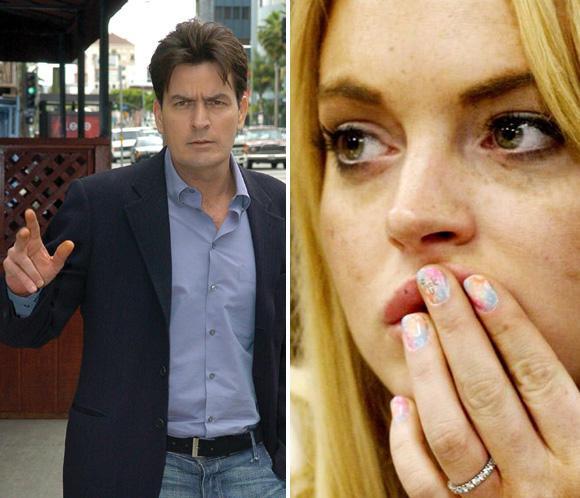 Charlie Sheen envía 77.055 euros para ayudar a Lindsay Lohan con el fisco