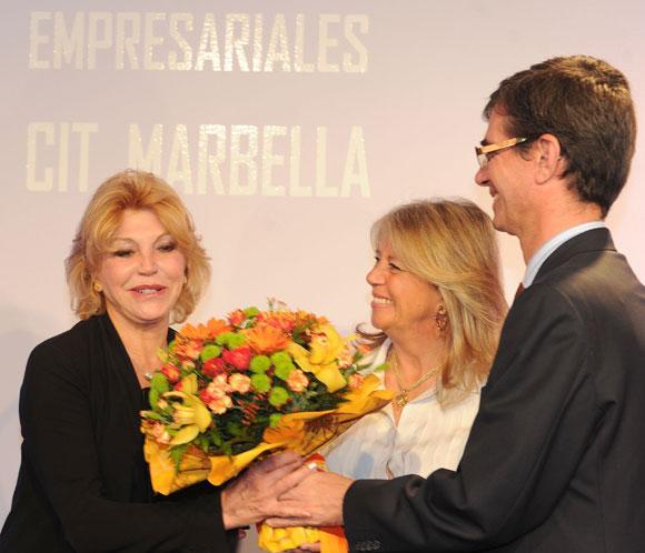 Carmen Cervera, premiada por ser la mejor embajadora de Marbella