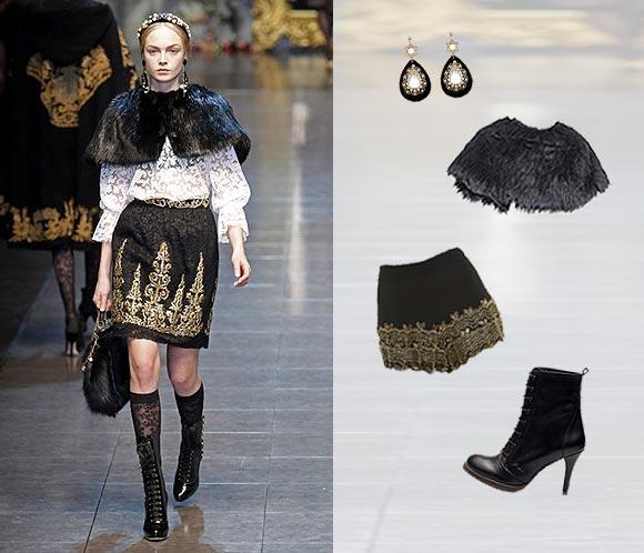 Pasarela 'low cost': Consigue un look barroco como el de Dolce & Gabbana