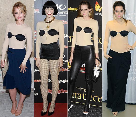 Cuatro 'celebrities' con el mismo 'body' de Maison Martin Margiela para H&M