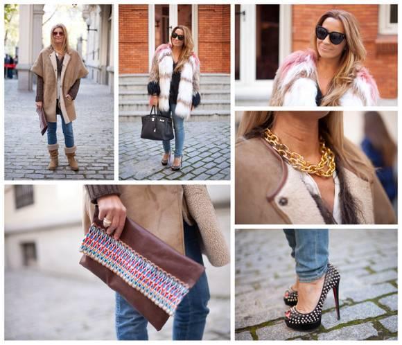Street Style: ¿Abrigo de piel o abrigo de pelo?