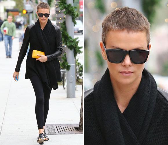 Charlize Theron pasea su cambio radical por Beverly Hills