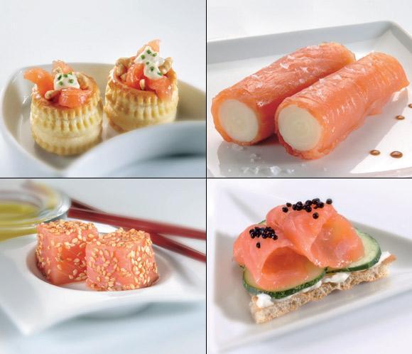 Salm n ahumado alimento 39 estrella 39 de los canap s for Canape de salmon ahumado