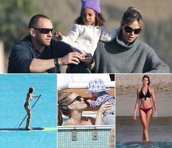Heidi Klum, Stephanie Seymour, Lily Cole y Molly Sims… Fin de Año en la playa