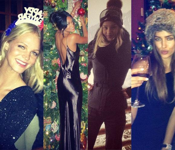 Los modeloshan utilizadolas redes sociales para hacernos partícipes de sus navidades