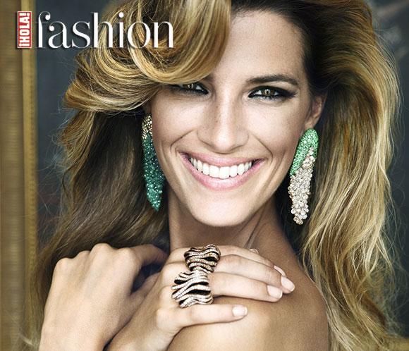 Laura Sánchez posa para ¡HOLA! Fashion con las nuevas tendencias en alta joyería