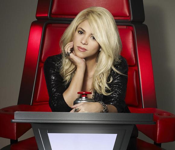 Primera foto oficial de Shakira en el concurso 'The Voice'
