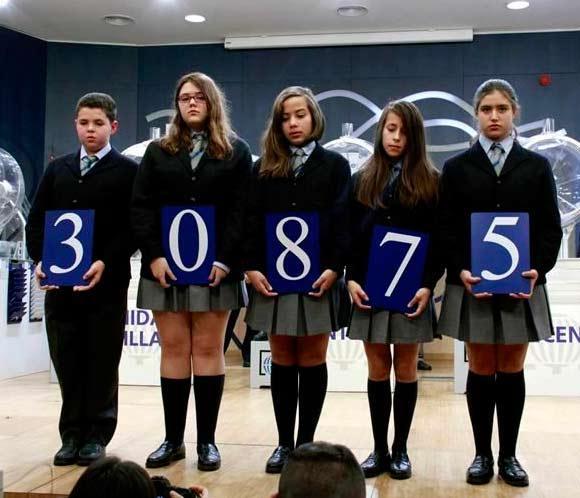El número 30.875, primer premio del sorteo del Niño