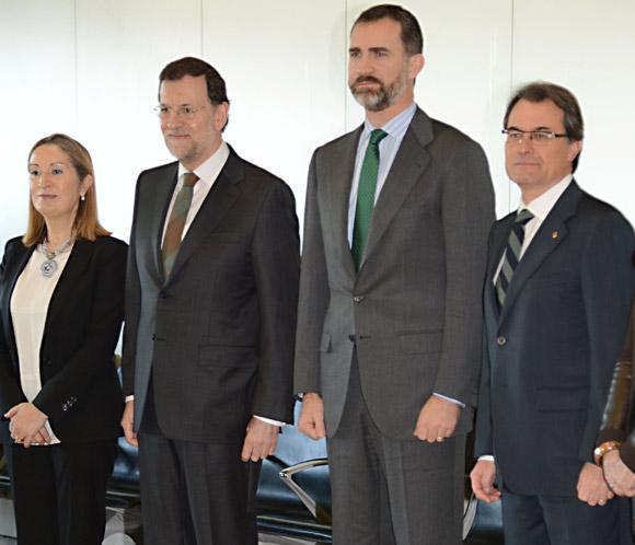 El príncipe Felipe inaugura el AVE a Girona