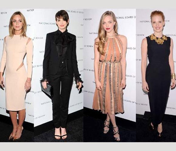 Las 'solitarias' bellezas de una glamurosa noche de premios en Nueva York
