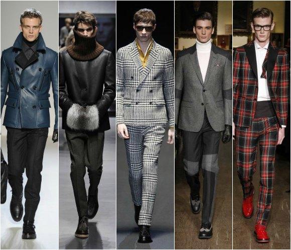 El tejido escocés, el abrigo militar y las pieles, algunas de las propuestas para hombre de la pasarela de Milán