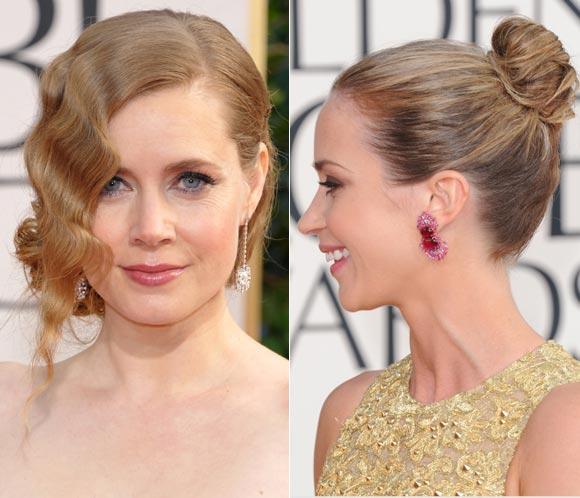 Peinados de alfombra roja: los 'looks' de Amy Adams y Emily Blunt en los Globo de Oro, paso a paso