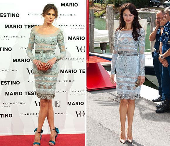 Nieves Álvarez y Olga Kurylenko, con el mismo vestido de Emilio Pucci. ¿Quién lo lleva mejor?