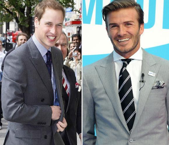 El príncipe Guillermo comparte mesa con David Beckham para apoyar al fútbol británico