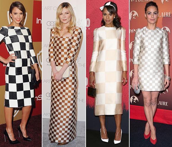 Jessica Alba, Kirsten Dunst, Kerry Washington y Bérénice Bejo, ¡a cuadros con las nuevas tendencias!