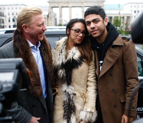 Boris Becker acude a la Semana de la Moda de Berlín, junto a su mujer, Lilly y su hijo Noah