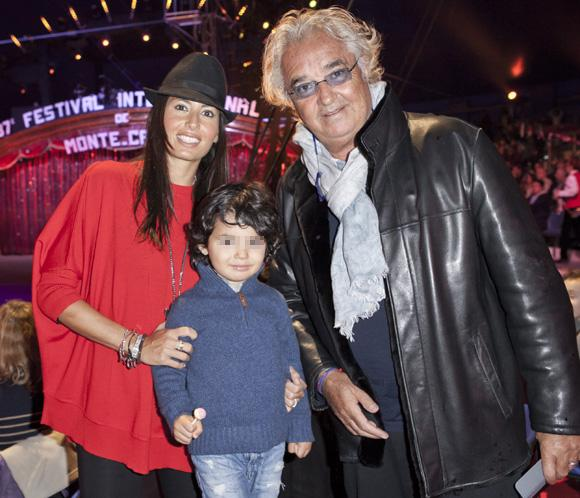 Flavio Briatore y Elisabetta Gregoraci disfrutan de la magia del circo con su pequeño hijo Falco Nathan