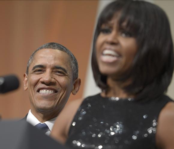 Barack Obama: 'Adoro el flequillo de mi esposa. Siempre luce hermosa'