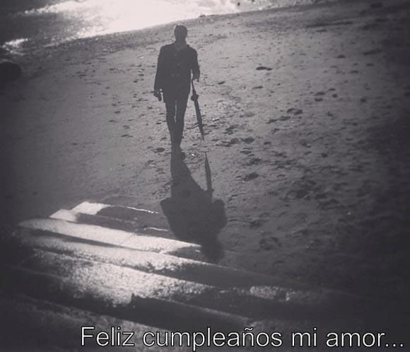 Una romántica Raquel del Rosario felicita a su novio, Pedro Castro, por su cumpleaños