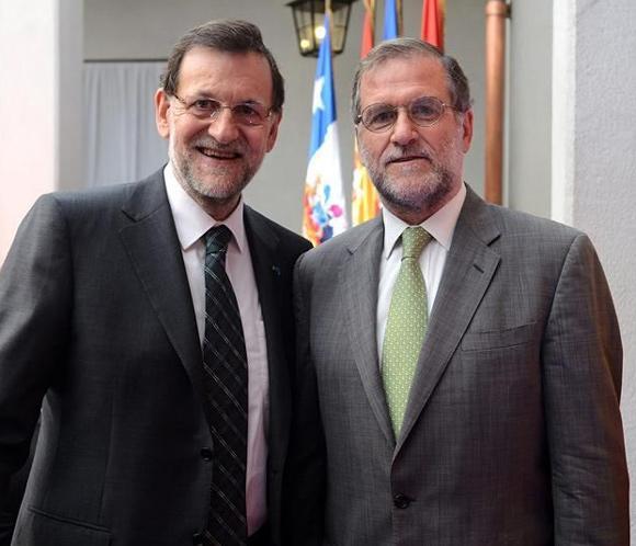 Mariano Rajoy encuentra a su 'doble' en Chile