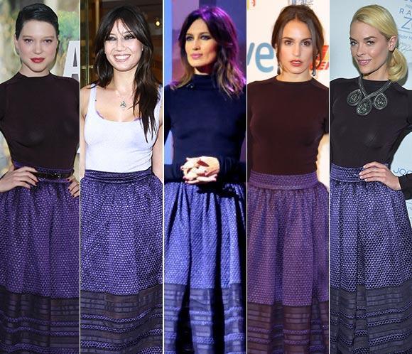 ¿Quién lo lleva mejor?: Cinco celebrities con la misma falda de Dior.