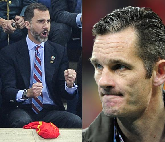 El príncipe Felipe e Iñaki Urdangarin coinciden en la final del Mundial de Balonmano