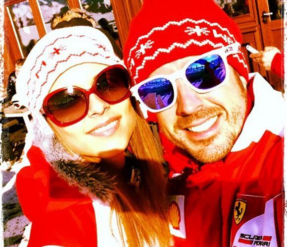 Fernando Alonso y Dasha Kapustina, amor bajo cero