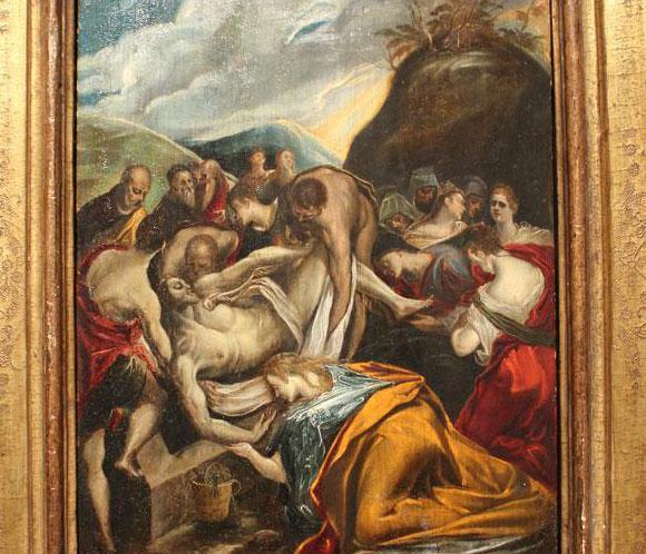'El entierro de Cristo' de El Greco, subastado por 550.000 euros en Nueva York