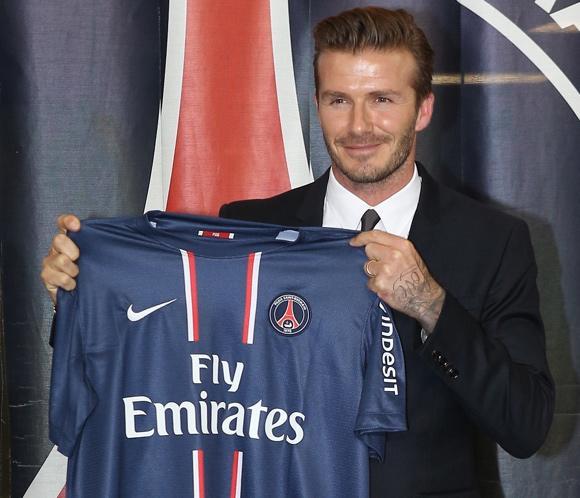 David Beckham ficha por el París Saint-Germain y donará su sueldo a una organización benéfica infantil