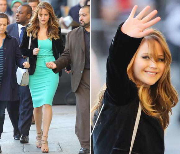 Jennifer Lawrence, bella y sofisticada por las calles de Nueva York