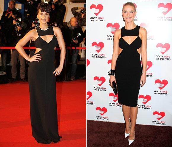 Alicia Keys y Gwyneth Paltrow, con el mismo vestido de Michael Kors. ¿Quién lo lleva mejor?
