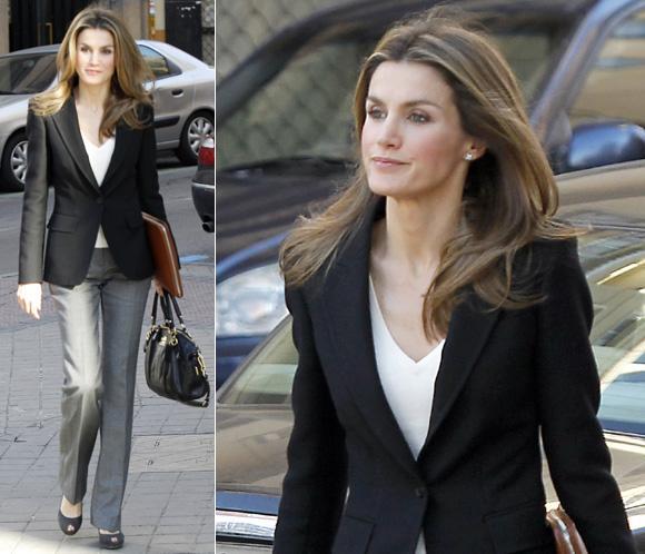 El 'look' de la princesa Letizia para un día de trabajo