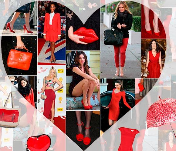 Vestidos rojos, 'bolsos-beso', corazones... ¡Se acerca el Día de San Valentín!