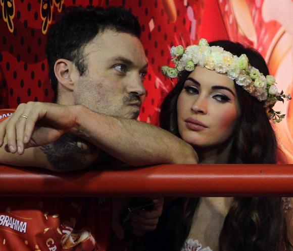 Megan Fox disfruta del Carnaval de Río de Janeiro junto a su marido Brian Austin Green