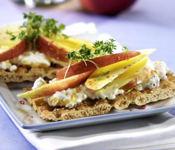 'Tosta de queso fresco y manzana': un aperitivo ligero y… ¿terapéutico?
