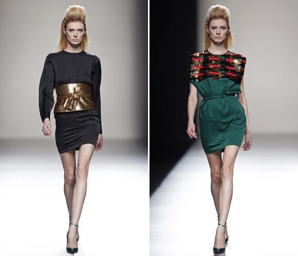 Miguel Palacio ha presentado en la Fashion Week Madriduna colección ultrafemenina