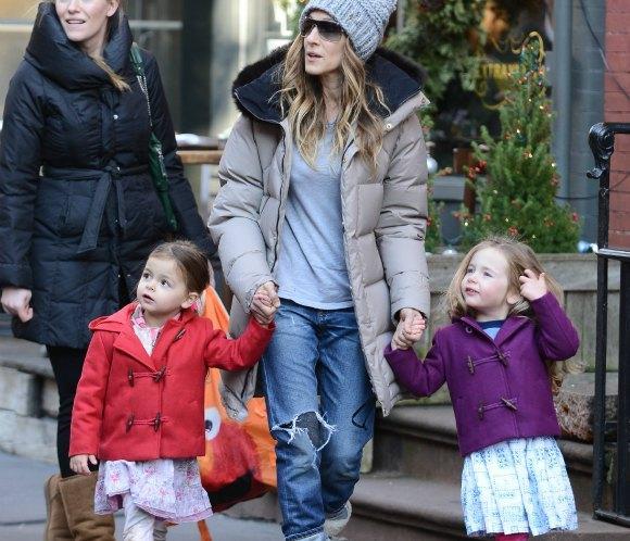 Las gemelas de Sarah Jessica Parker, dos princesitas muy conjuntadas en Nueva York