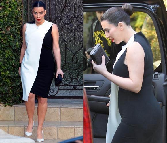 Taconazos y vestidos ajustados: Kim Kardashian, dispuesta a mantener su estilo a pesar de su embarazo