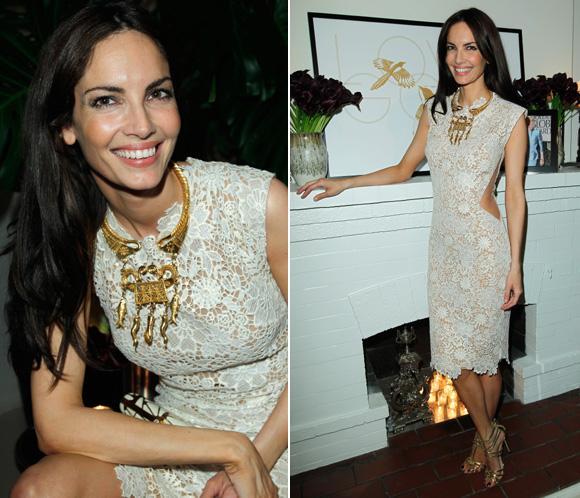 Eugenia Silva, espectacular en en la fiesta de Fred Leightonen Los Ángeles