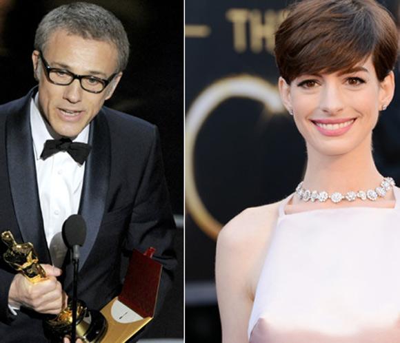 Sin sorpresas en los premios a mejor actor y actriz de reparto: Christoph Waltz y Anne Hathaway