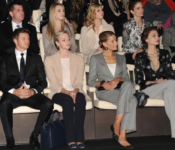 Las princesas Charlene y Tatiana fieles a su cita con la moda en Milán
