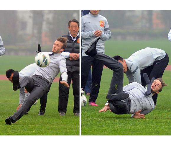 La prueba que demuestra que David Beckham también es humano