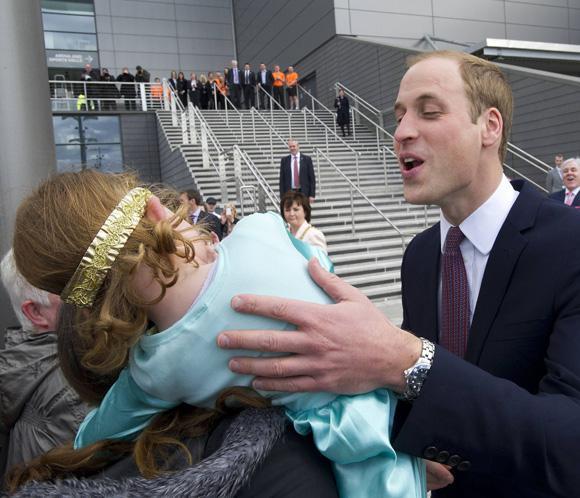 Guillermo de Inglaterra, rechazado por una niña de cuatro años