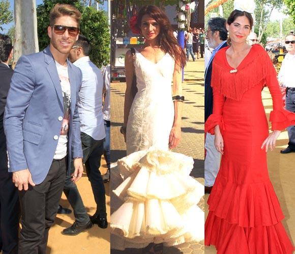 Raquel Jiménez, Lourdes Montes, Sergio Ramos… pasean por las casetas de la Feria de Abril