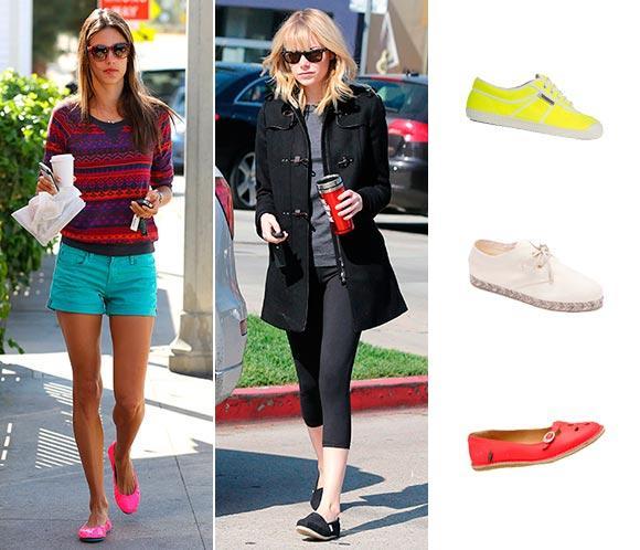 Alpargatas, bailarinas, sneakers Las celebrities apuestan por la comodidad