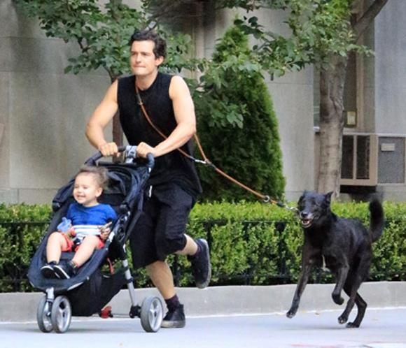 Orlando Bloom, un papá todoterreno