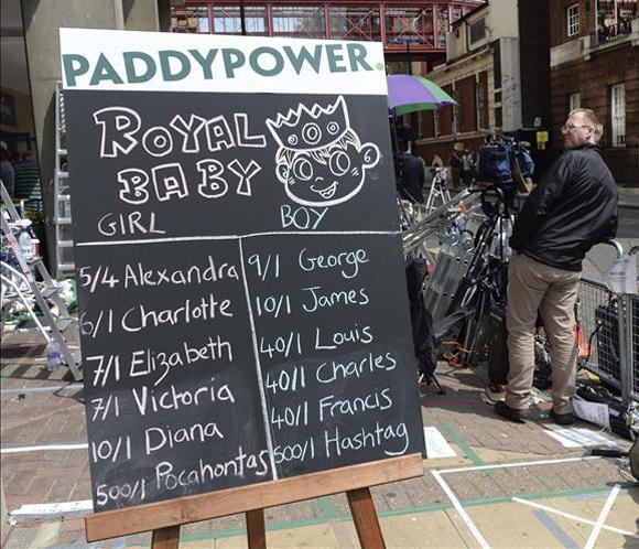 Victoria o Jaime, los nombres favoritos de los británicos para el 'bebé real'