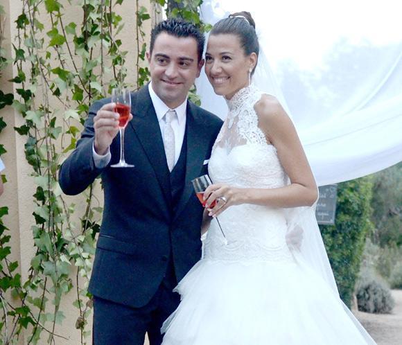 La romántica boda de Xavi Hernández y Nuria Cunillera
